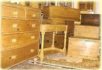 selection of antique pine furniture