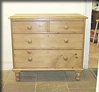 victorian pine chhest drawers small