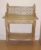 tiles washstand pine