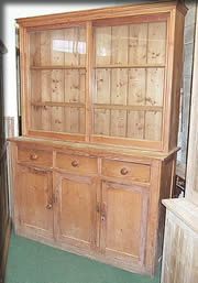 antique pine dresser sliding doors