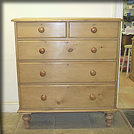 Quality victorian pine chest of drawers