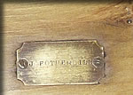 brass plaque top of box