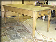long victorian pine table