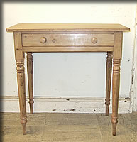 small victorian pine side table