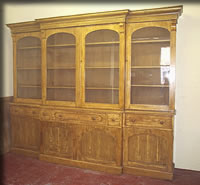 pine bookcase library victorian