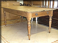 victorian pine farmhouse table