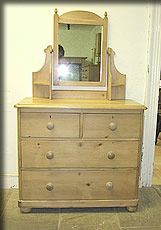victorian pine dressing chest table