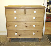 victorioan antique pine chest drawers