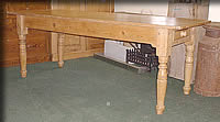 long west country pine table