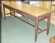 victorian narrow pine table