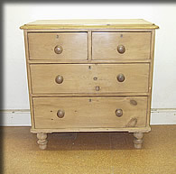 small victorian pine chest drawers
