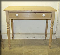 victorian pine side table desk