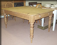 victorian edwardian pine kitchen table